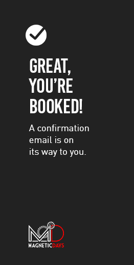You're booked!