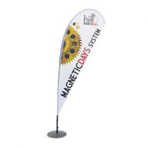 bandiera per stand | Teardrop Flag | merchandising MagneticDays