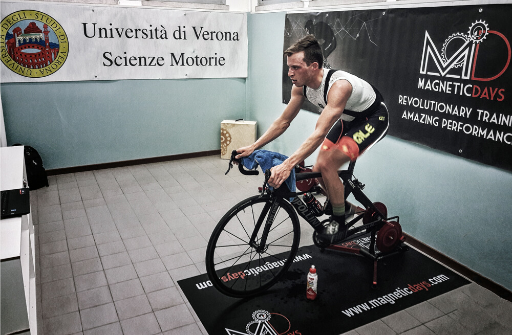 MagneticDays Università di Verona Scienze Motorie ciclismo Davide Magon obesità patologie osteoarticolari fitness test incrementale VO2 max consumo di ossigeno test MLSS Luca Festa Ph.D. Fisiologia