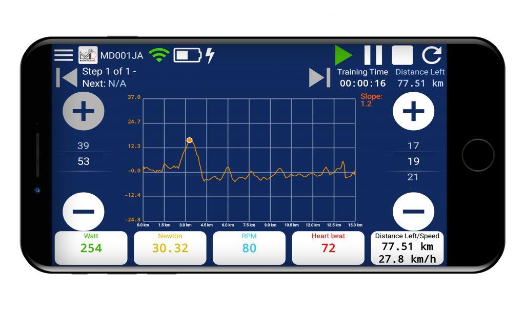 Cambio Virtuale MagneticDays | MagneticDays | Impostazioni | Pacco Pignoni | Corone | Circonferenza ruota | Cogset | Cassette | Wheel Circumference | Threshold Heart Rate | BPM | Bycicle | Pendenza | Slope | Climb | Downhill | Newton | Watt | RPM