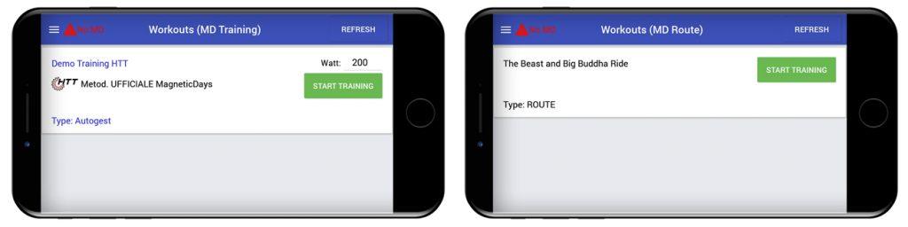 sistema di allenamento | MagneticDays | starter pack | training demo | allenamenti HTT | Watt