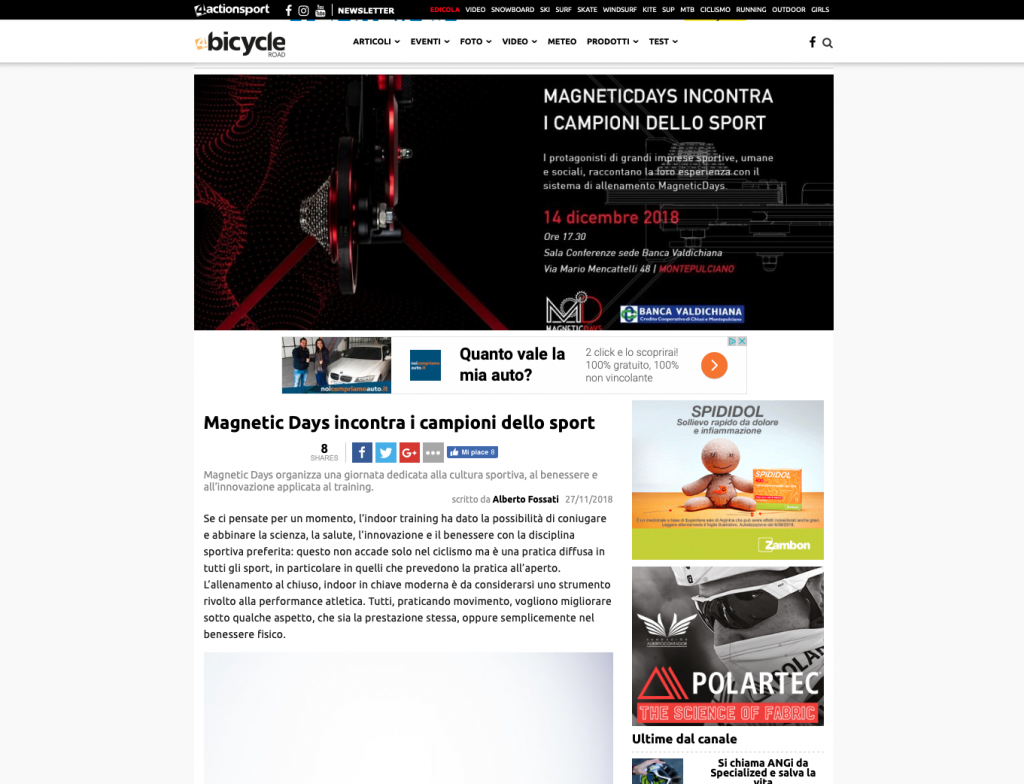 4Bicycle | 4actionsport | MagneticDays press | Alberto Fossati | MagneticDays incontra i campioni dello sport