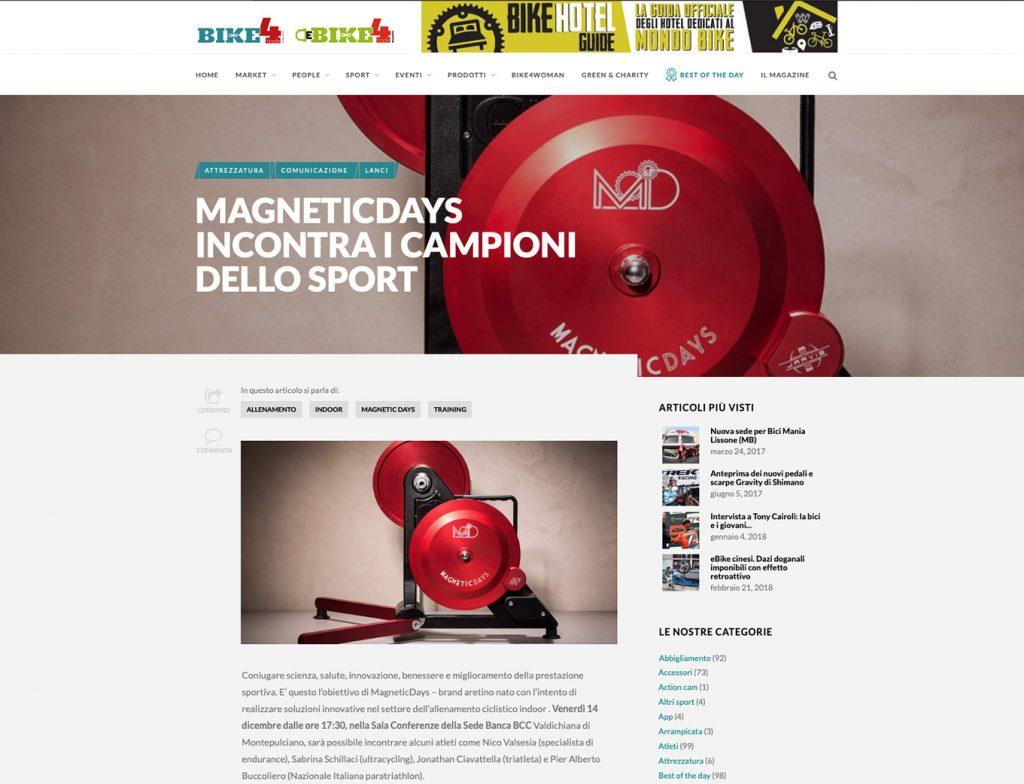 MagneticDays come si allenano i campioni | Bike 4 Trade | MD incontra i campioni dello sport