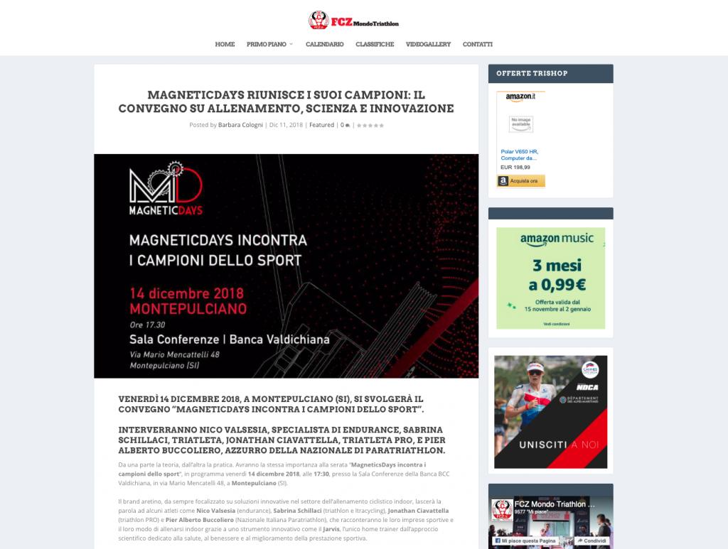 MagneticDays riunisce i suoi campioni | FCZ Mondo Triathlon | MagneticDays