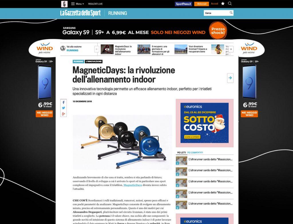 MagneticDays: la rivoluzione dell'allenamento indoor | La Gazzetta | Alberto Fumi | La Gazzetta dello Sport Running | triathlon training | indoor training
