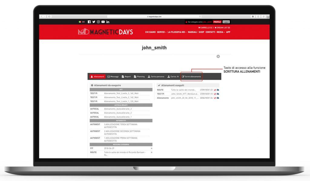 Scrittura allenamenti MagneticDays 1