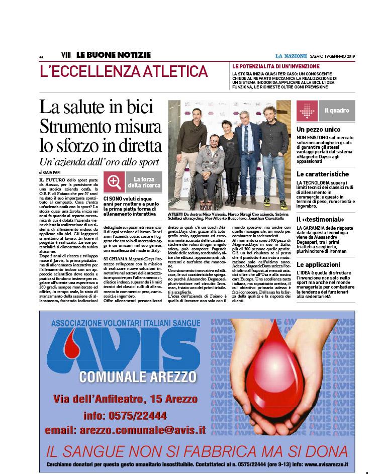 La salute in bici. strumento misura lo sforzo in diretto | La Nazione Arezzo | O.R.F. un'azienda dall'oro allo sport | MagneticDays