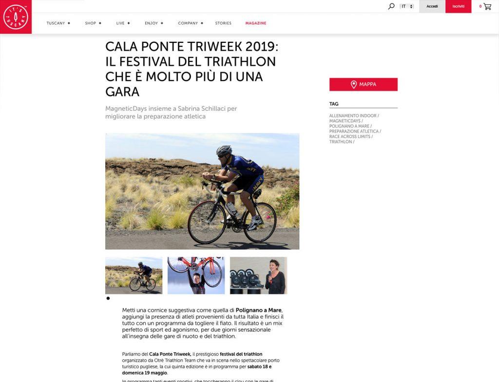 Cala Ponte Triweek | It's Tuscany Magazine | Race Across Limits Italia | MagneticDays
