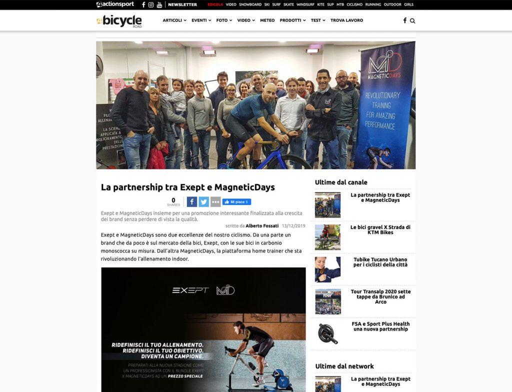 Exept | La partnership tra Exept e MagneticDays | 4Bicycle Road