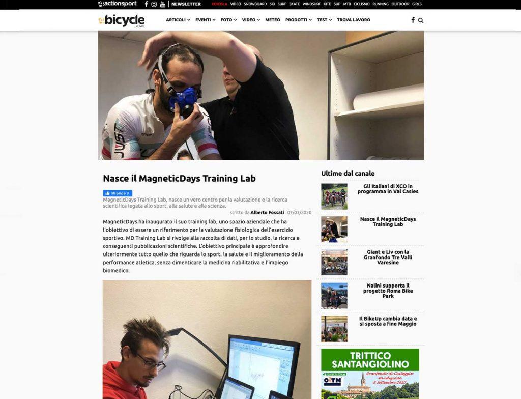MagneticDays | Training Lab | progetto di ricerca | ricerca allenamento