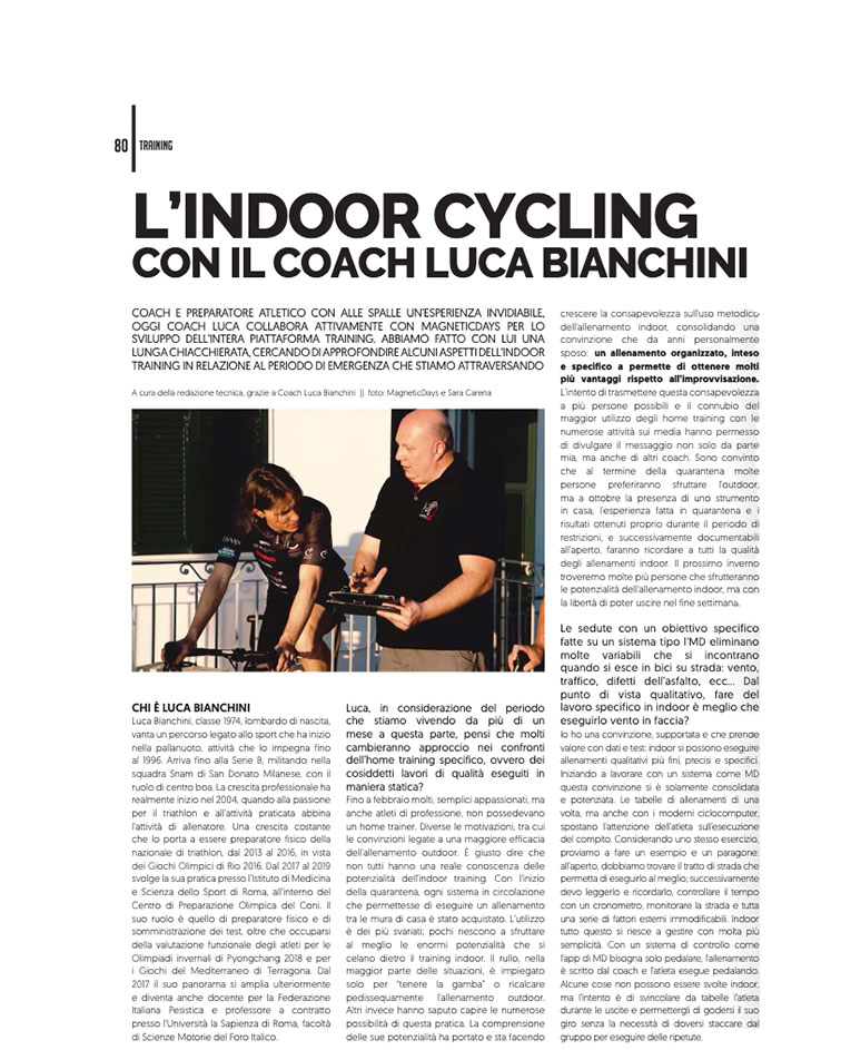 indoor cycling | indoor | coach luca bianchini | magneticdays