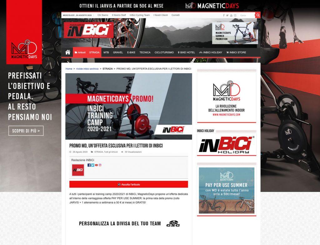 promo MD | training camp Inbici | partner MagneticDays